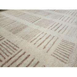 Vlnený koberec Ocean B-454 béžovo-pieskový