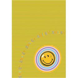 Detský kusový koberec SMILEY PRINTED 8902 Zlatý