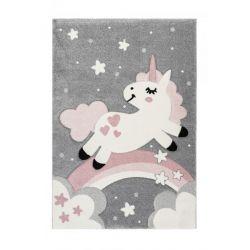Detský kusový koberec jednorožec Amigo 327 Pink