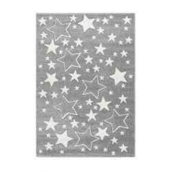 Detský kusový koberec s hviezdičkami Amigo 329 strieborný