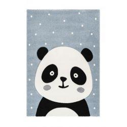 Detský modrý kusový koberec Panda Amigo 322