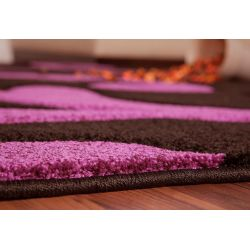 Kusový koberec Olympia čierno-fialový