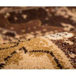 Kusový koberec Patch 201 hnedý