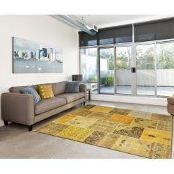 Kusový koberec Patchwork 550 zlatý