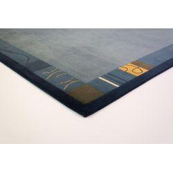 Nepálsky vlnený koberec Nepal Kathmandu Original modrý