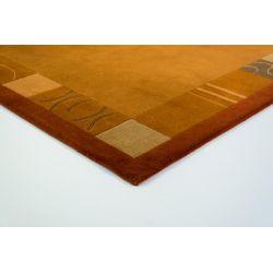 Nepálsky vlnený koberec Nepal Kathmandu Original oranžový