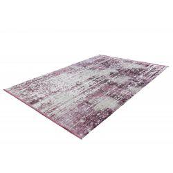 Strieborno fialový moderný koberec Elysee 903