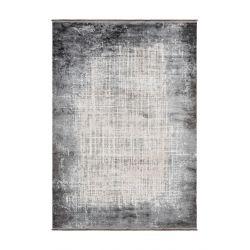 Strieborný moderný koberec...