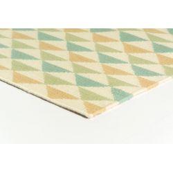 Vlnený tkaný koberec Nina 6000 Biela