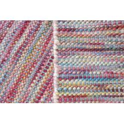 Vlnený zátažový obojstranný koberec Dhurrie Wool