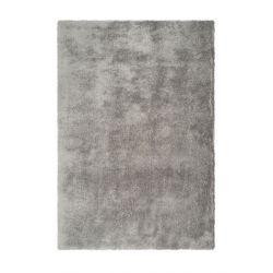 Strieborný shaggy koberec...