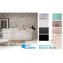Kúpeľňová predložka Heaven Mats čierna