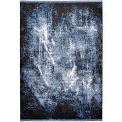 Modrý moderný koberec...
