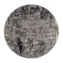 Kruhový Shaggy koberec Juwel Liray 566 Šedá mix