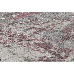 Kruhový Shaggy koberec Juwel Liray 573 fialovo šedá