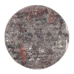 Kruhový Shaggy koberec Juwel Liray 674  ružová mix