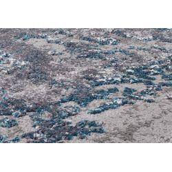 Kruhový Shaggy koberec Juwel Liray 696 modro šedá