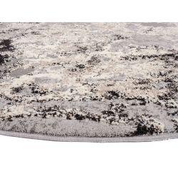 Kruhový Shaggy koberec Juwel Liray 894 svetlo šedá