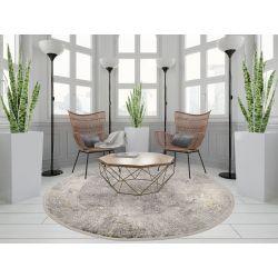 Trendový okrúhly koberec Bestseller Cava 669 šedá mix