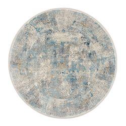 Trendový okrúhly koberec Bestseller Cava 822 šedo modrá