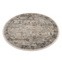 Trendový okrúhly koberec Bestseller Tadi 947 šedo zlatá