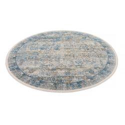 Trendový okrúhly koberec Bestseller Tadi 822 šedo modrý