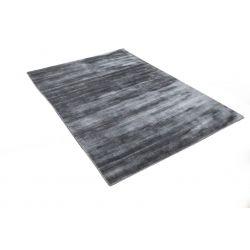 Moderný strieborný jednofarebný  kusový koberec Handloom