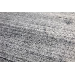 Moderný jednofarebný  kusový koberec Handloom svetlo šedý