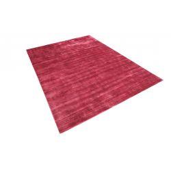 Moderný jednofarebný červený kusový koberec Handloom